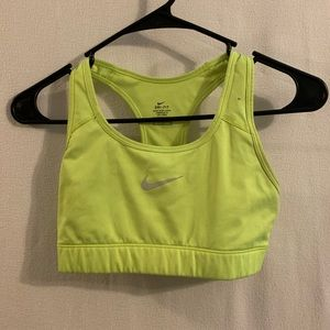 Neon Nike sports bra